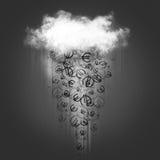 Дождь облака и денег Стоковое Фото