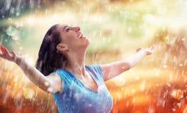 Дождь осени стоковое фото rf