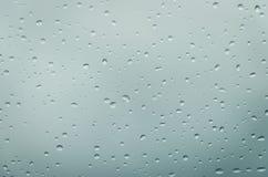Дождь падает aqua Стоковое Изображение RF