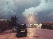 Дождь рано утром Стоковые Фотографии RF