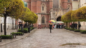 Дождь Wroclaw Стоковая Фотография