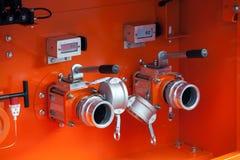 Дозаправляя комплекс с клапанами нефти Стоковое фото RF