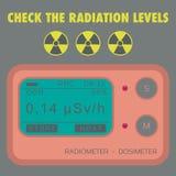 Дозиметр радиации гаммы личный стоковые изображения