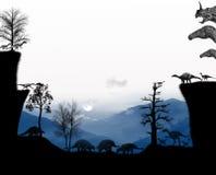 Доисторическая атмосфера динозавров Стоковая Фотография RF