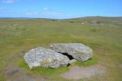 Доисторический национальный парк Dartmoor камеры захоронения, Девон, Великобритания стоковые фото