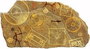 Доисторический петроглиф стоковые фотографии rf