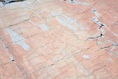 Доисторическое резное изображение утеса, долина Merveilles, Франция Стоковое Фото