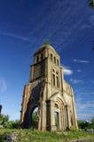 Доказательство войны Steeple церков Toa Tam, Вьетнама - 2014-Sep Стоковые Фото