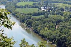Доки на реке Стоковое Изображение RF