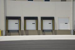 Доки доставки для большого склада Стоковое Фото