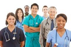 Доктора: Большая группа в составе доктора и медсестры стоковая фотография rf