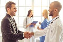 Доктора и бизнесмен Стоковое Изображение RF