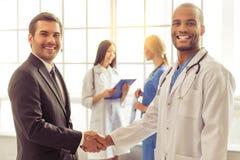 Доктора и бизнесмен Стоковое фото RF