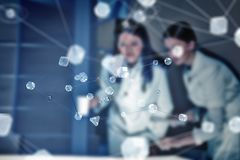 2 доктора и новой технологии Мультимедиа Стоковое фото RF