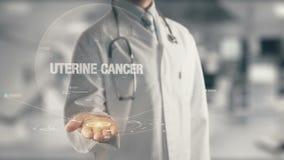 Доктор держа в Карциноме руки утробной Стоковая Фотография