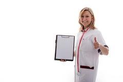 доктор держит большой пец руки вверх Стоковая Фотография RF