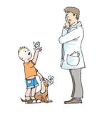доктор детей Бесплатная Иллюстрация