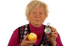 доктор дня яблока отсутствующий держит Стоковые Изображения