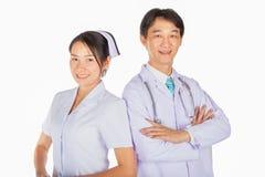 Доктор и медсестра принимают фото совместно Стоковое Фото