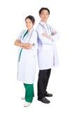 Доктор и медсестра принимают фото совместно Стоковое Изображение RF
