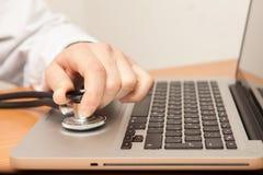 Доктор компьютера стоковое изображение