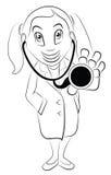 Доктор контура шаржа Стоковые Изображения RF
