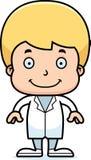 Доктор Мальчик шаржа усмехаясь иллюстрация штока