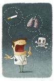 Доктор объясняя риски курить Стоковые Фотографии RF