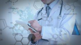 Доктор писать на доске зажима акции видеоматериалы