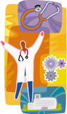 Доктор; стационар; стетоскоп Стоковое фото RF