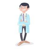 Доктор с стетоскопом и равномерным положением иллюстрация штока