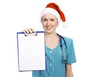 доктор clipboard рождества Стоковая Фотография