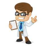 Доктор Holding Доска сзажимом для бумаги и указывать Стоковое Фото