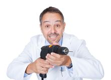 Доктор Holding Сверлить Машина стоковое изображение rf