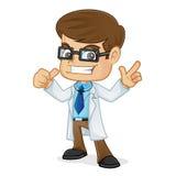 Доктор Pointing и давать большой палец руки вверх Стоковые Фотографии RF