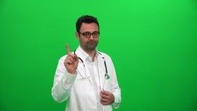 Доктор Shaking Ее Палец, предупреждая о плох привычке сток-видео