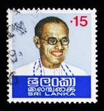 Доктор Solomon Запад Ridgeway Dias Bandaranaike (1899-1959), первичный Стоковая Фотография