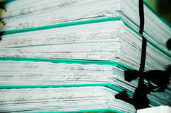 документация Стоковое фото RF