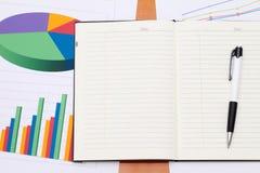 Документы диаграммы цвета напечатанные Стоковые Фотографии RF