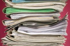 документы предпосылки финансируют красный цвет Стоковые Изображения