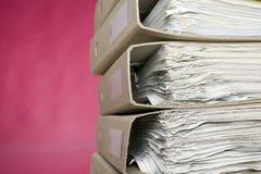 документы предпосылки финансируют красный цвет Стоковое Фото