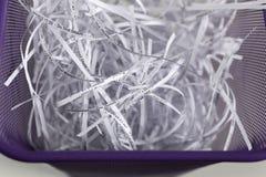 документы shredded wastebasket Стоковая Фотография RF