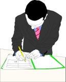 Документ бизнесмена подписывая Стоковое фото RF
