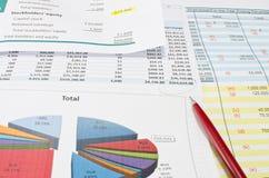 Документ дела финансовый Стоковая Фотография RF
