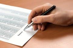 Документ знака руки Стоковое фото RF