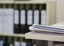 Документ с файлами и папками Стоковое Фото