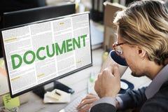 Документ формирует административную концепцию примечаний писем Стоковые Фотографии RF