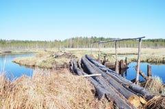 Док в водном пути Стоковые Фото