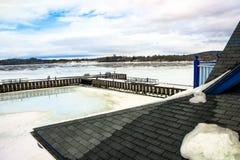 Док зимы стоковое изображение rf