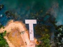Док и озеро стоковая фотография